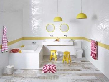 Raymor products help create kid friendly bathroom with fun for Family friendly bathroom design ideas