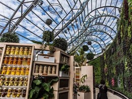 New horticultural building at Sydney Royal Botanic Gardens featuring EDGE products