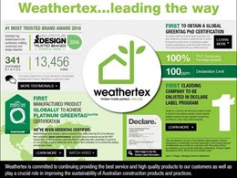 Weathertex leads the way by keeping it green