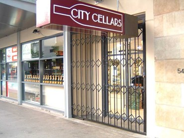 City Cellars secured with ATDC's security doors