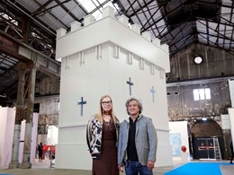 7m BondorPanel tower takes centre stage at Sydney Contemporary Art Fair