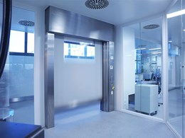 High speed roll doors for cleanrooms