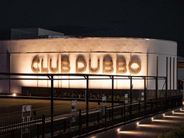 Ever Art Wood battens on Club Dubbo facade create an impact