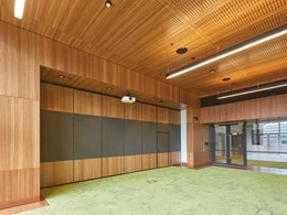 Fire rated panels used on ceilings and walls at Sydney International Convention Centre