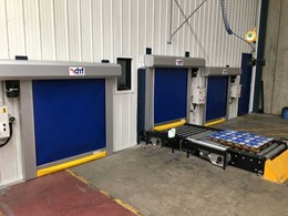 High speed doors for conveyors ensuring safety and climate control