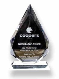 Greene Fire is 2016 Coopers Fire Distributor of the Year