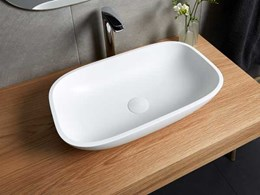 Corian's stylish top mount basins for bathrooms