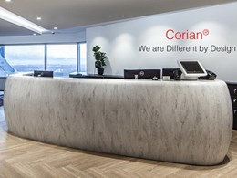 Add elegance, luxury and convenience to your space with Corian® Rain Cloud