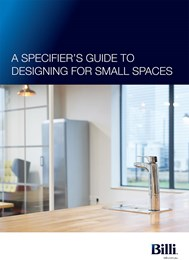 A specifier's guide to designing for small spaces