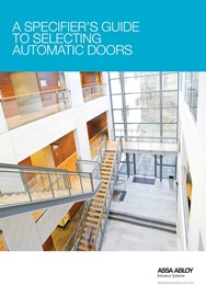 A specifier's guide to selecting automatic doors