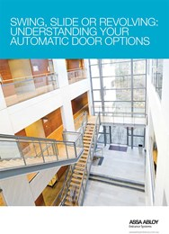 Swing, slide or revolving: Understanding your automatic door options