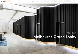 Melbourne Grand Lobby: Combining luxury and durability with timber look aluminium battens