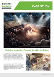 Case study: Fletcher Insulation Ductwork Insulation facing increases indoor air quality in Performing Arts Centre.