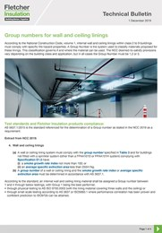Technical Bulletin: Group numbers for wall and ceiling linings