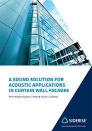 A sound solution for acoustic applications in curtain wall facades