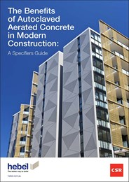 The benefits of Autoclaved Aerated Concrete in modern construction: A specifier's guide