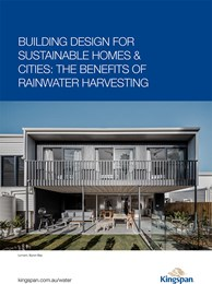 Building design for sustainable homes & cities: The benefits of rainwater harvesting