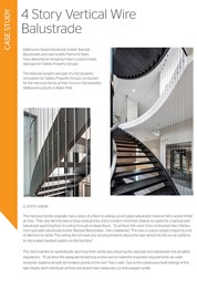 Achieving minimalistic lines with vertical wire balustrades