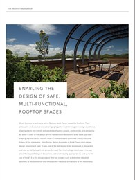 Enabling the design of safe, multi-functional, rooftop spaces
