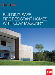 Building safe, fire resistant homes with clay masonry