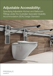 Adjustable accessibility: Specifying adjustable kitchen and bathroom fittings under the Australian Specialist Disability Accommodation (SDA) Design Standard