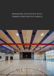 Considerations for managing acoustics with perforated timber panels