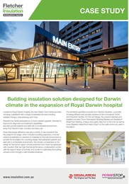 Case Study: Providing Condensation control & Energy efficiency to Darwin Hospital expansion