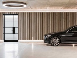 The residential garage with the looks of a luxury car showroom