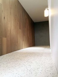 Concrete overlay floor customised for Articolo showroom