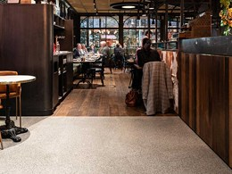 Concrete terrazzo enhances new Southbank restaurant's stunning ambience