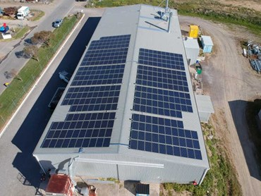 The 100kW solar power system at Goolwa Kitchens