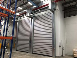 Efaflex insulated roll doors meet the brief at chiller enclosure