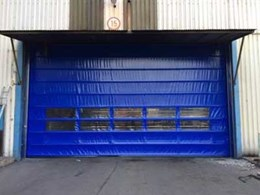 DMF high speed fold up doors for openings over 10 metres wide