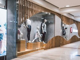 Timber look DecoWood used in stylish fitout for high end yoga brand