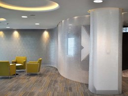 Spacemaile hanging screens offer privacy and light within Dubai Chamber of Commerce