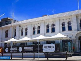 MakMax shade structure providing more coverage at popular Hobart outdoor cafe