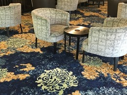 Broadloom Axminster carpet customised for boutique RSL club in Sydney