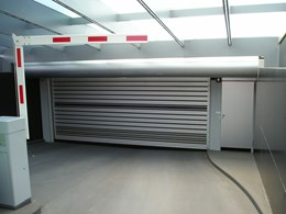 Efaflex high speed door installed at residential carpark with low headroom