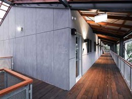 Green development in Byron Bay features Equitone Tectiva fibre cement panels on facade