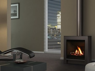 Escea FS730 Freestanding Gas Fireplace – Volcanic black with logs