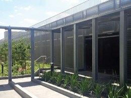Acculine's grating and louvres installed for Essendon Fields carpark and plant room