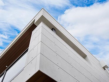 Exterior facade with non combustible cladding WestLakes residential