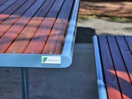 Furphy Foundry Woodgrove picnic settings installed at the Hampton Visitor Information Centre