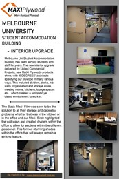 Melbourne University Student Accommodation Building interior upgrade