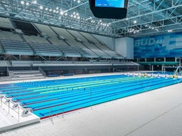 Tiles with antibacterial finish create healthy indoor climate at the Duna Arena