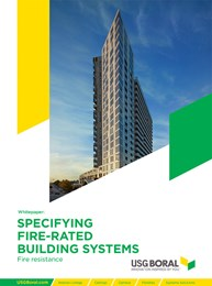 Specifying fire-rated building systems