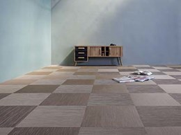 New Fitnice from Armstrong Flooring woven vinyl flooring featuring bicolour yarns