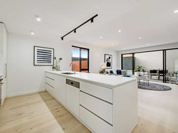 European Oak floor blends effortlessly into natural palette at Essendon terrace homes