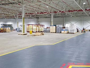Flowcoat OP and Flowtex were used to create a high performance floor in Ford's large-scale production facility