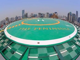 Deckshield surfaces welcome VIP visitors at The Peninsula Shanghai's carpark and helipad